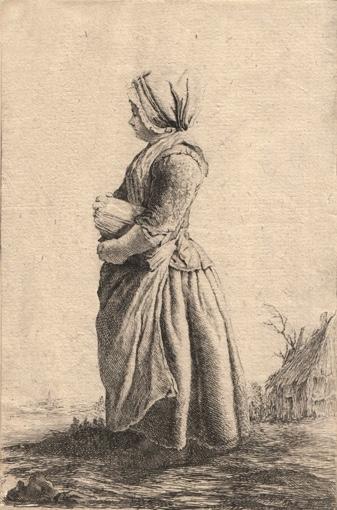 Молода селянка. 1751.