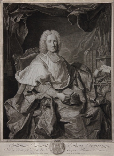 Portrait of Cardinal Guillaume Dubois. 1724.
