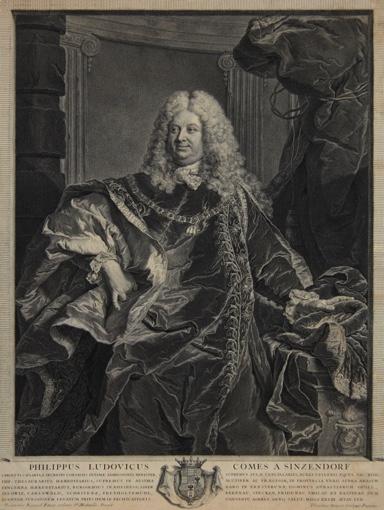 Portrait of Count Philipp Ludwig Wenzel von Sinzendorf. 1730.