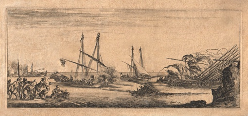 A naval Battle. Ca. 1641.