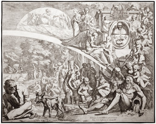 Allegory in honor of the election of Pope Innocent X. 1644.