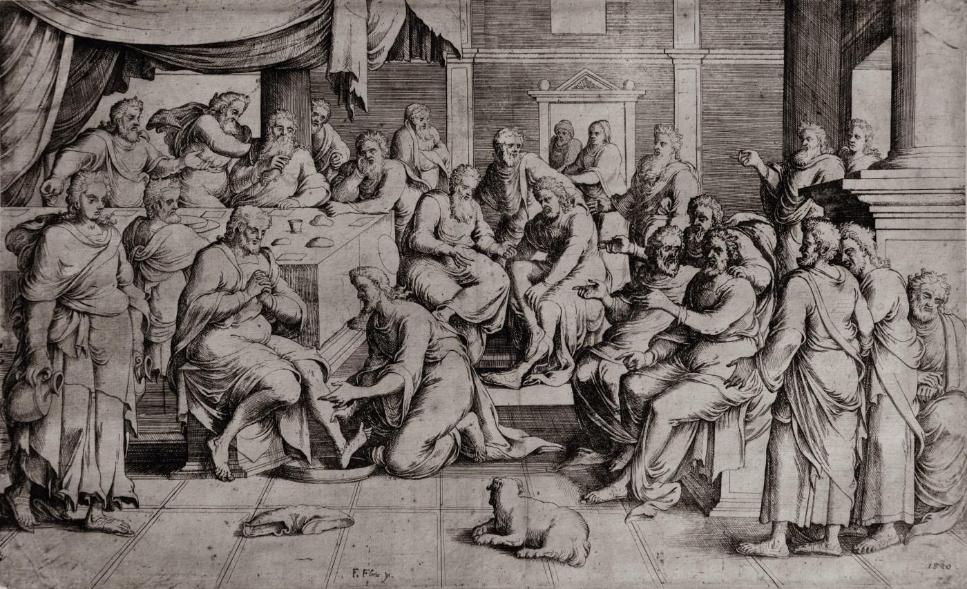 Christ washing the feet of his apostles. 1550–1570.