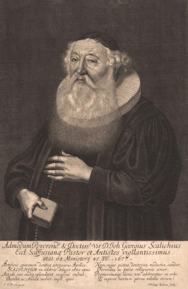 Portrait of Johann Georg Schalch. 1677.