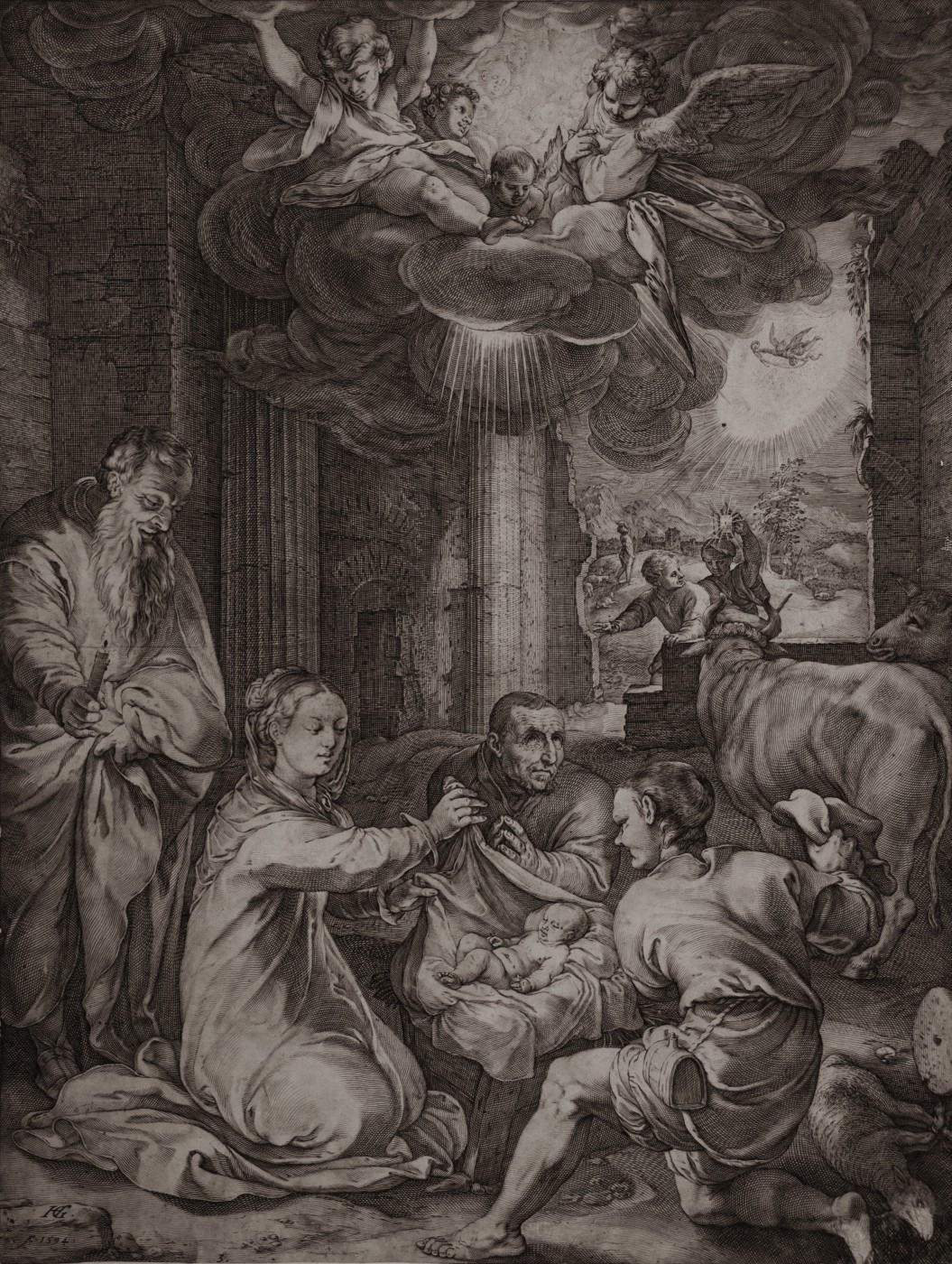 Adoration of the shepherds. 1594