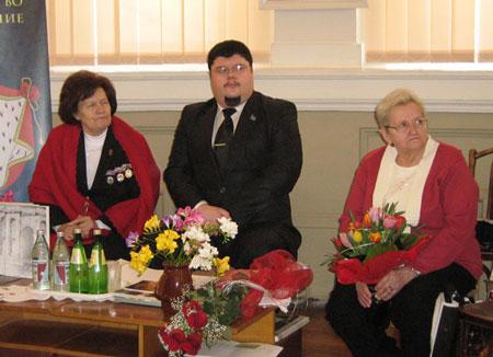 Під час презентації, зліва-направо: О.Ф. Ботушанська, А.А. Горчаков, Г.І. Єфимова