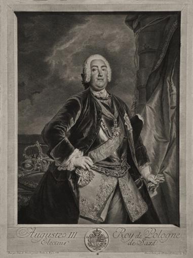 Portrait of Polish King Augustus III.