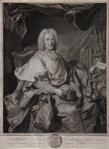 Portrait of Cardinal Guillaume Dubois. 1724.