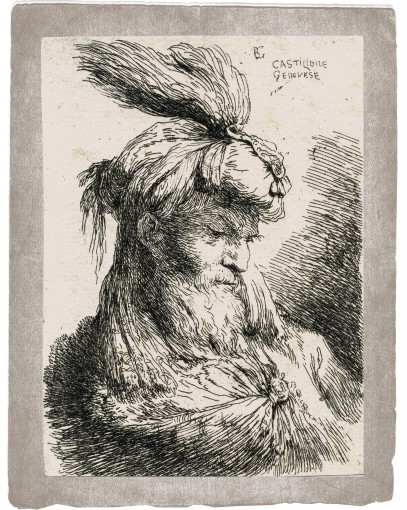 The head of a young man looking down to right. 1645–1650.