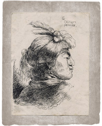 The head of a man in a turban and a scarf. 1645–1650.