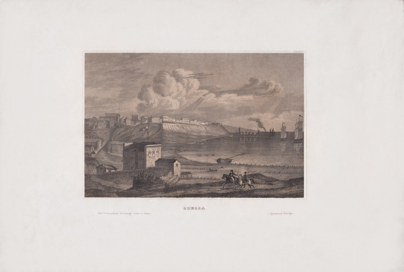 Odesa. The City View from Customs. 1830s.