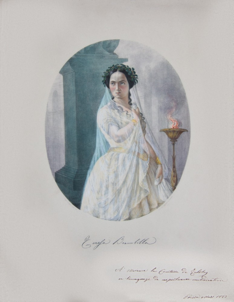 Portrait of Teresa Brambilla as Norma. 1852-1853.