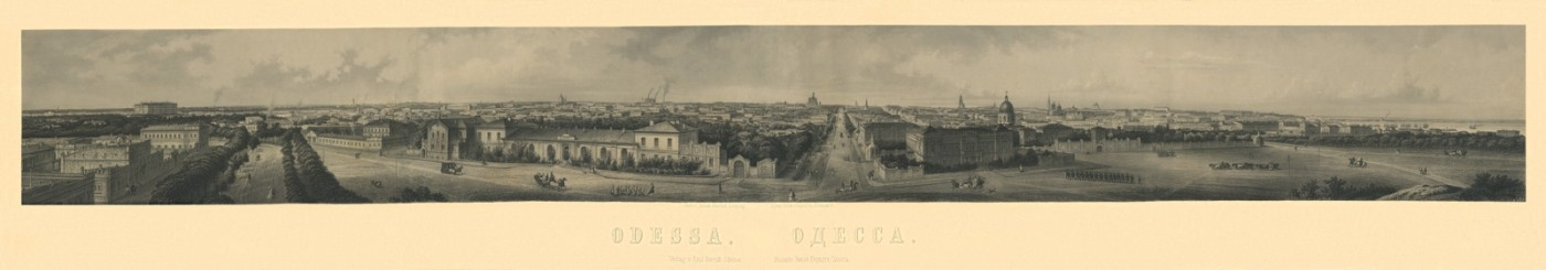 Odesa. View of the City from Zovnishniy Boulevard. 1880s.