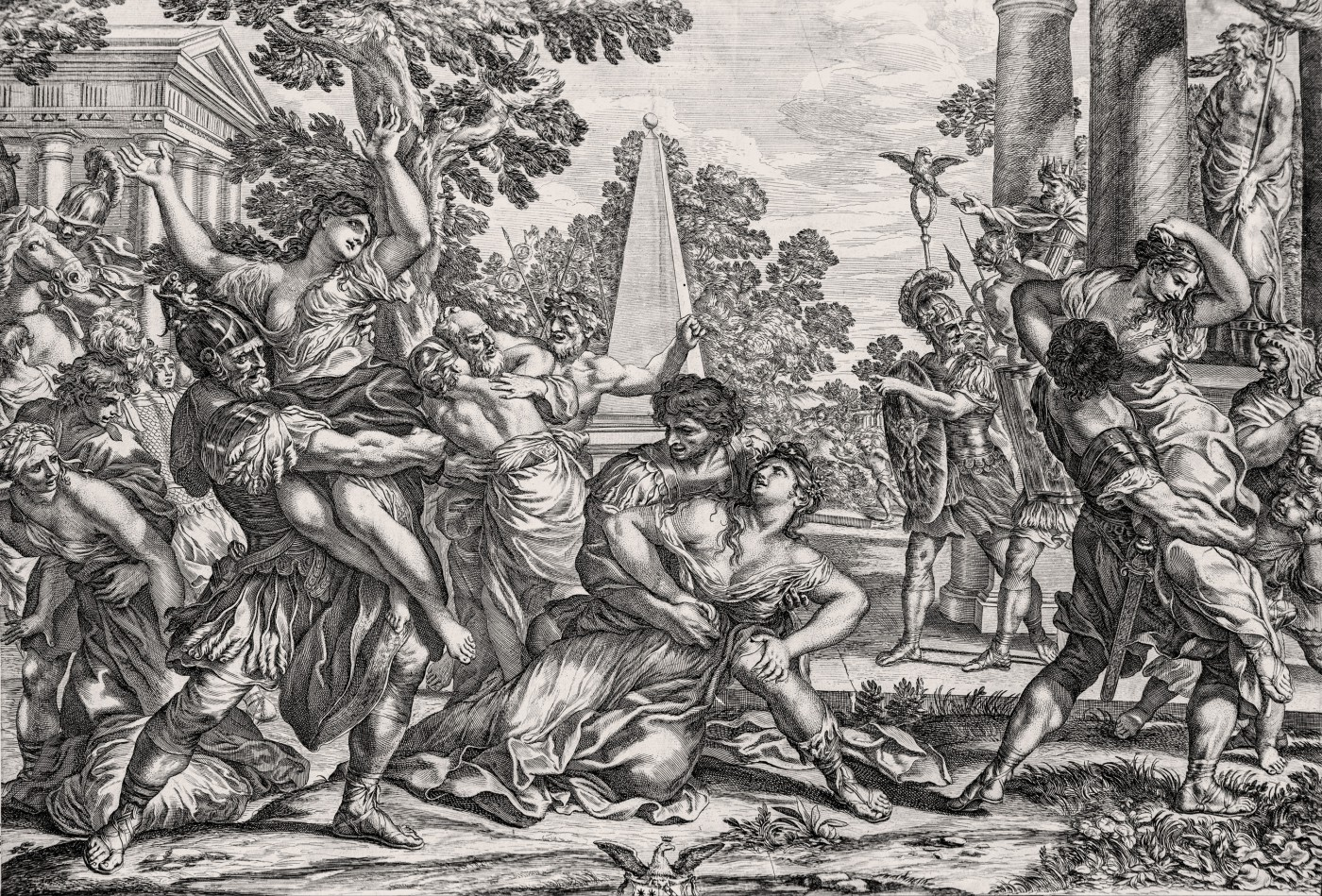 The abduction of the Sabine women.1670–1692.