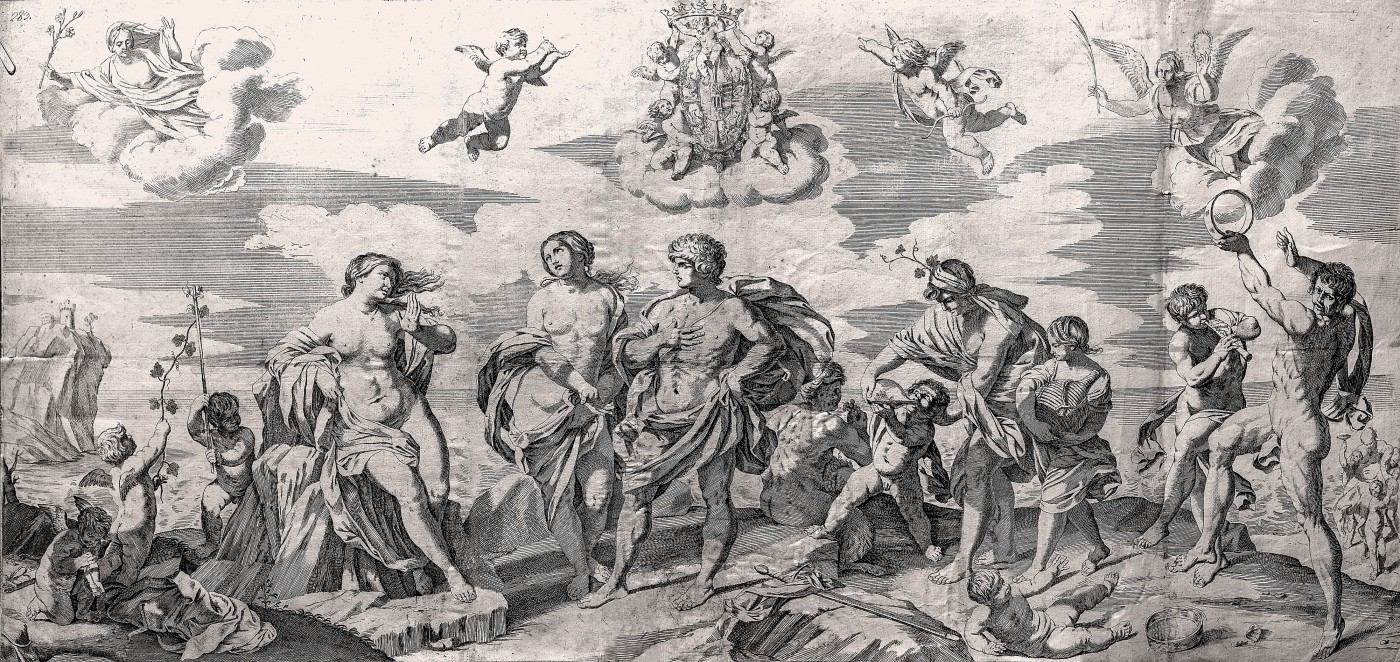 Bacchus and his companions finding Ariadne on the island of Naxos. 1650–1680.