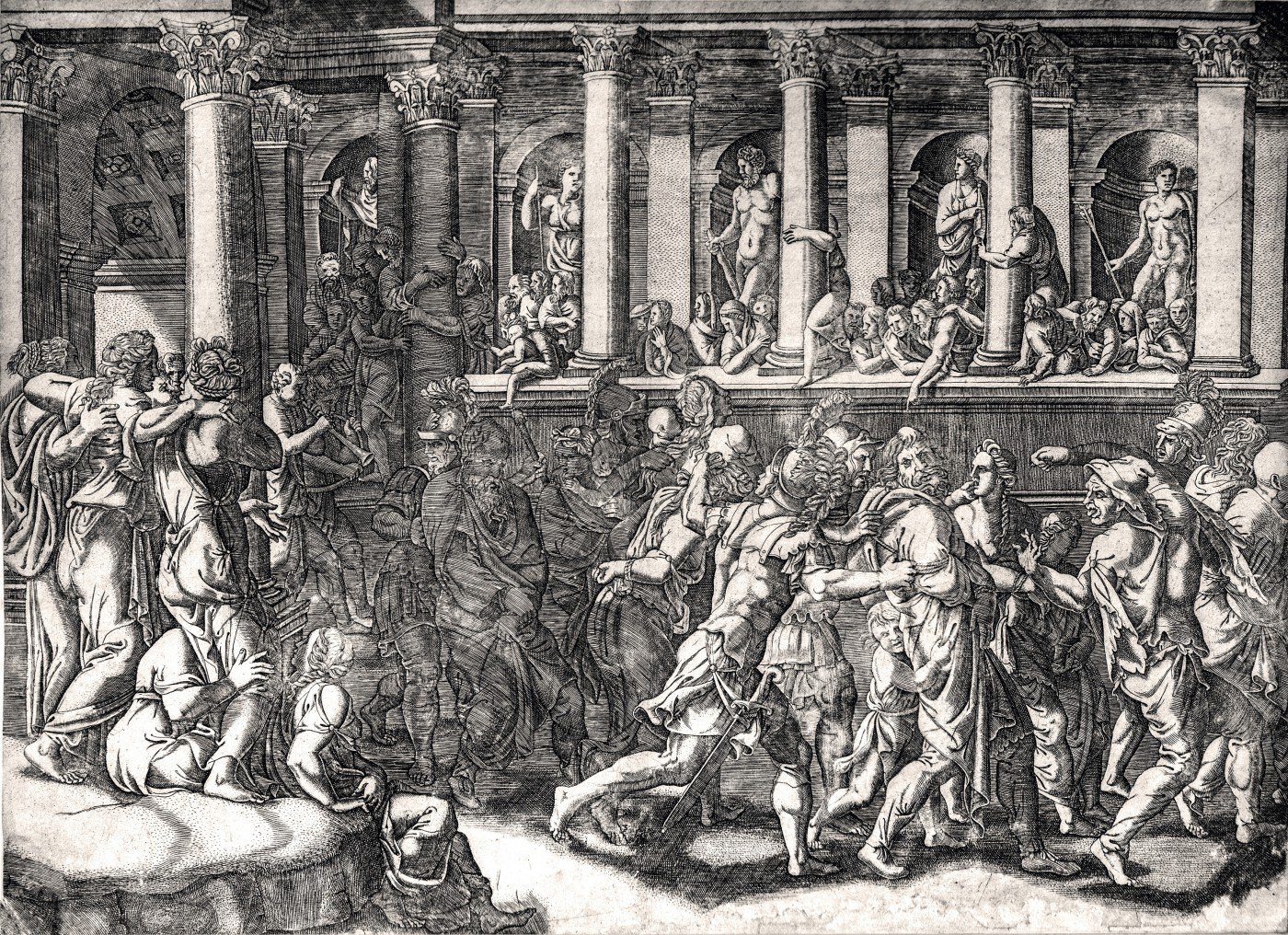The mocking of the prisoners. Ca.1540
